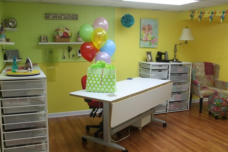 finding space for a longarm, quilting studio, sewing room, dream sewing room, longarm giveaway, longarm giveaway winner, Corintha Russell