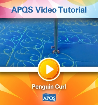Angela Huffman, APQS, video tutorial, quilt video tutorial, longarm quilting, penguin curl quilt design, quilt border design, border fill,
