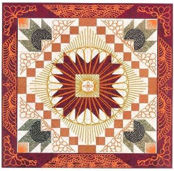 How would you quilt the quilt, Falling Maples, Dawn Cavanaugh, Georgene Huggette, Betty Reid, APQS retailer, APQS Quilt Path, Millennium, Millie, Quilt Glide