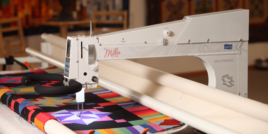apqs, longarm quilting, longarm quilting machine reviews, Millennium, Millie, reviews, video