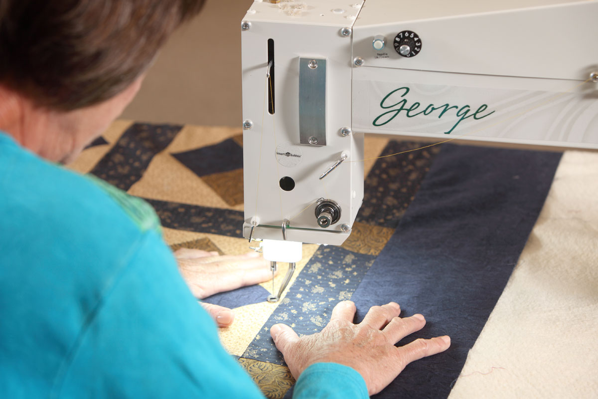 Liz Porter Quilting with George