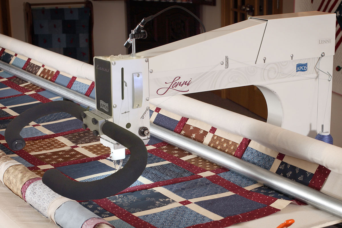 apqs, compare longarm quilting machines, find and APQS dealer, Freedom, george, Lenni, lifetime warranty, longarm quilting, Lucey, Millennium, Quilt GlideX Quilt Path