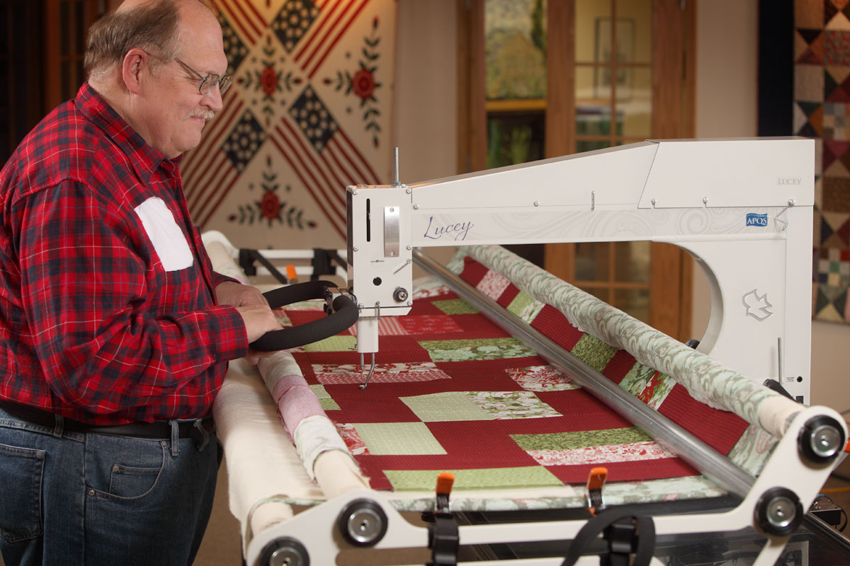 George Quilting With Lucey