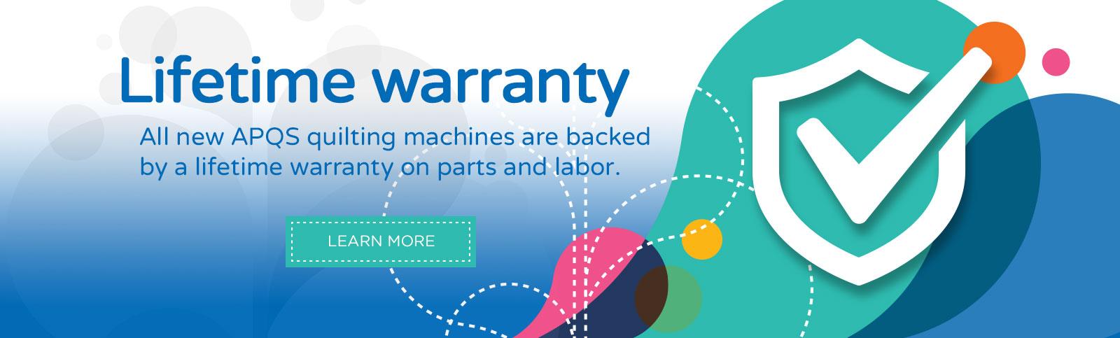APQS Lifetime Warranty