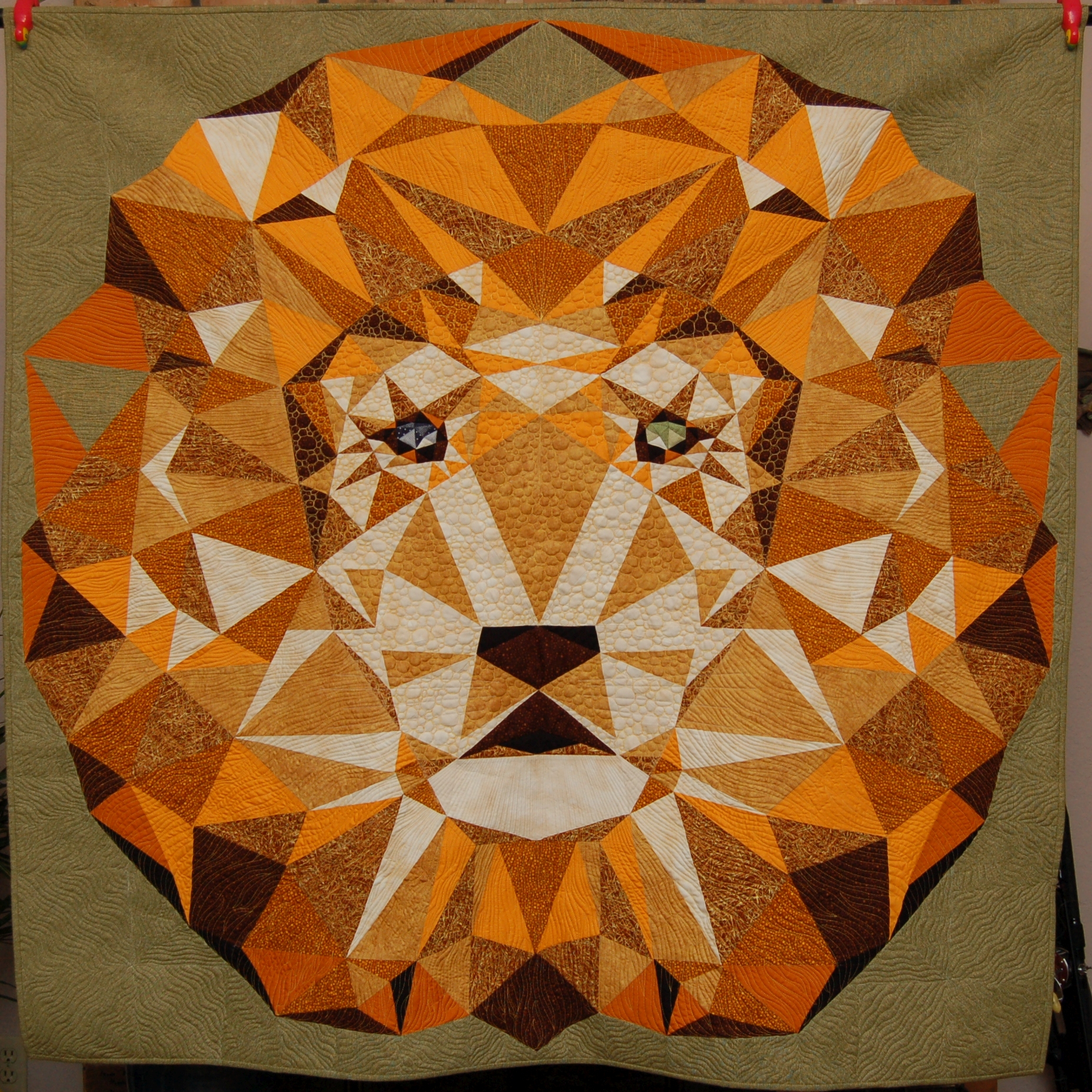 Marty Reese Lion quilt