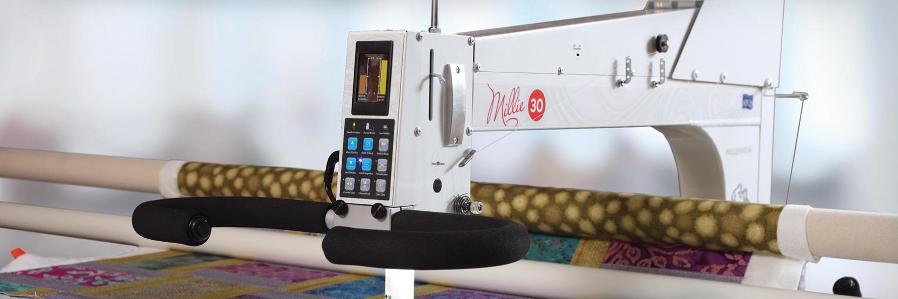 Millie30 - Hero Image of Quilting Machine