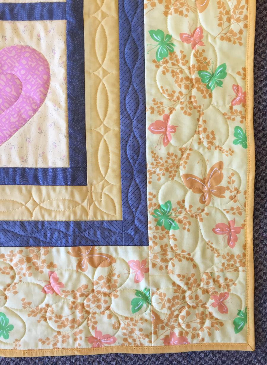 Free quilt pattern, Trucks in the Daisy Patch, connie keller, dawn cavanaugh, apqs, longarm quilting, baby quilt, baby boy quilt, baby girl quilt, spring quilt, apqs quilt path, longarm quilting