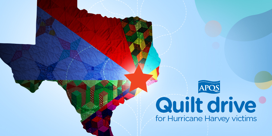 hurricane, harvey, quilt drive, apqs