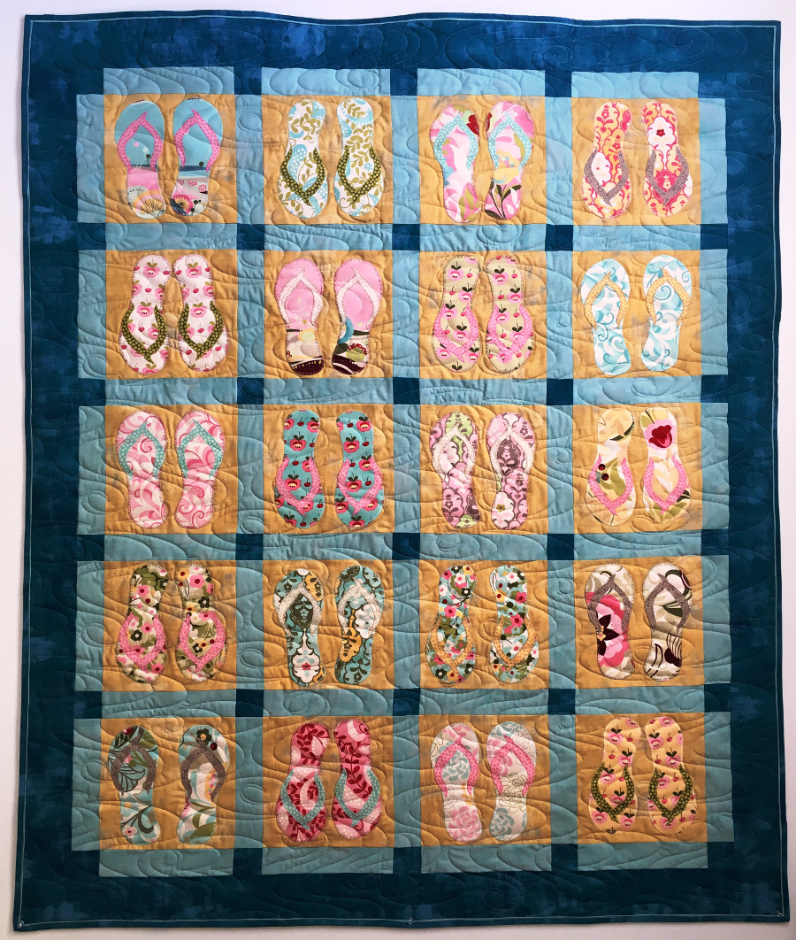 Free Quilt Pattern Sand Surf And Sun Apqs
