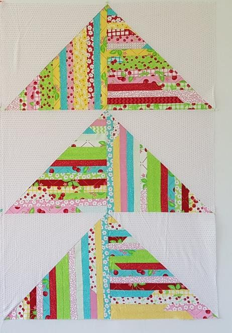 Elita Sharpe, Giant Scrappy Giant Flying Geese, apqs, longarm quilting, machine quilting, free quilt pattern, scrappy quilt
