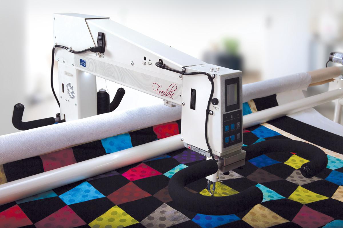 Gallery: Freddie Quilting Machine - Photo of Left side of quilting machine