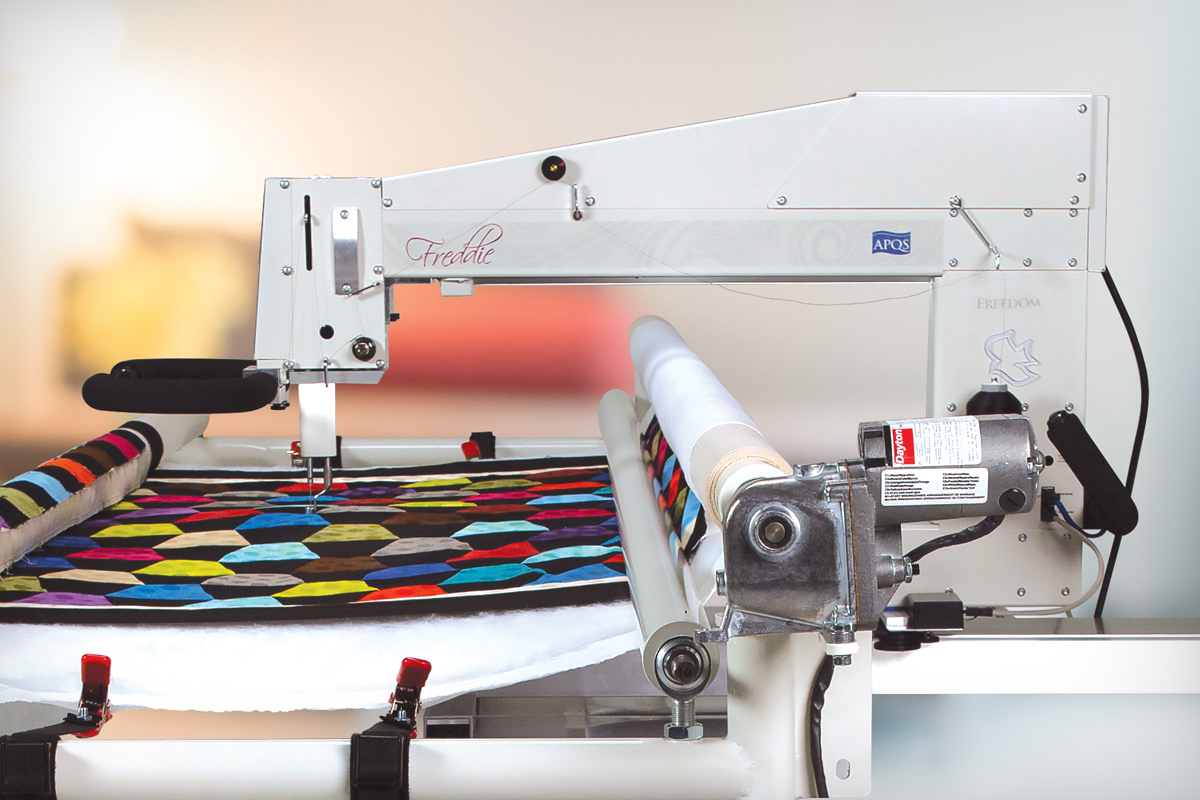 Gallery: Freddie Quilting Machine - Photo of Right side of quilting machine