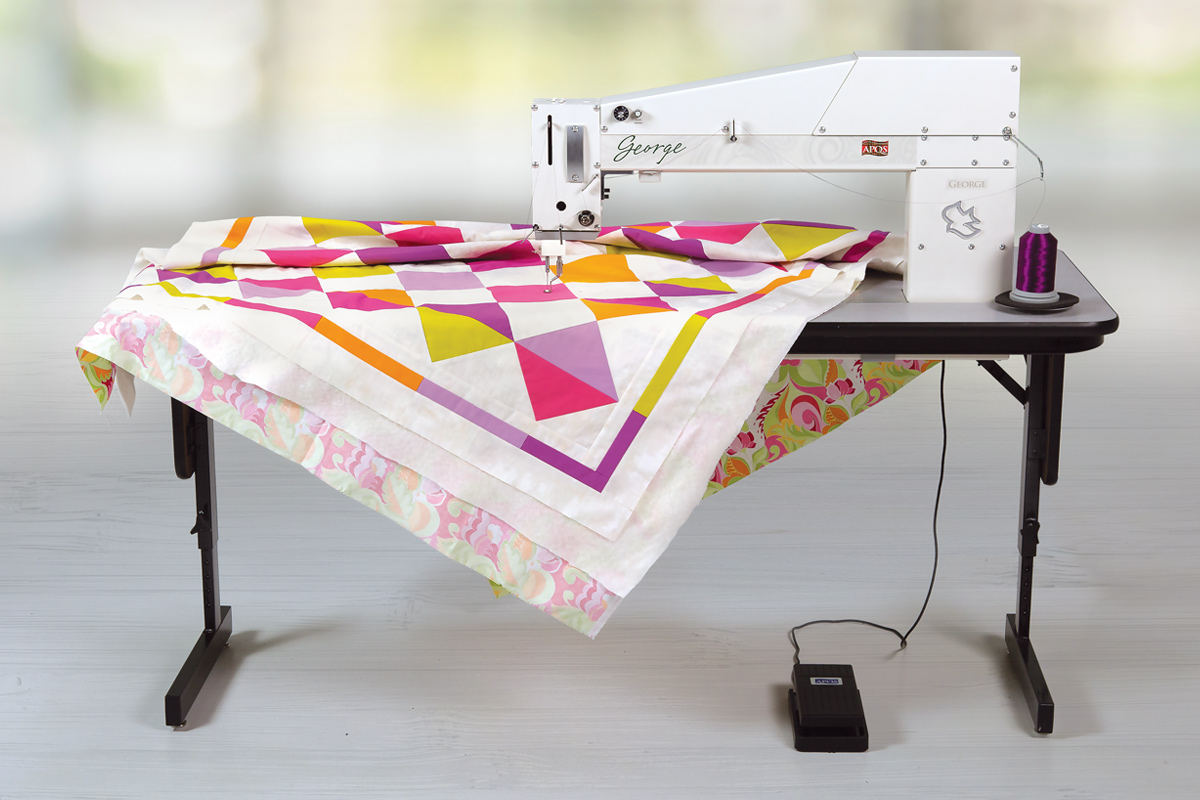 Gallery: George Quilting Machine - Right photo of quilting machine