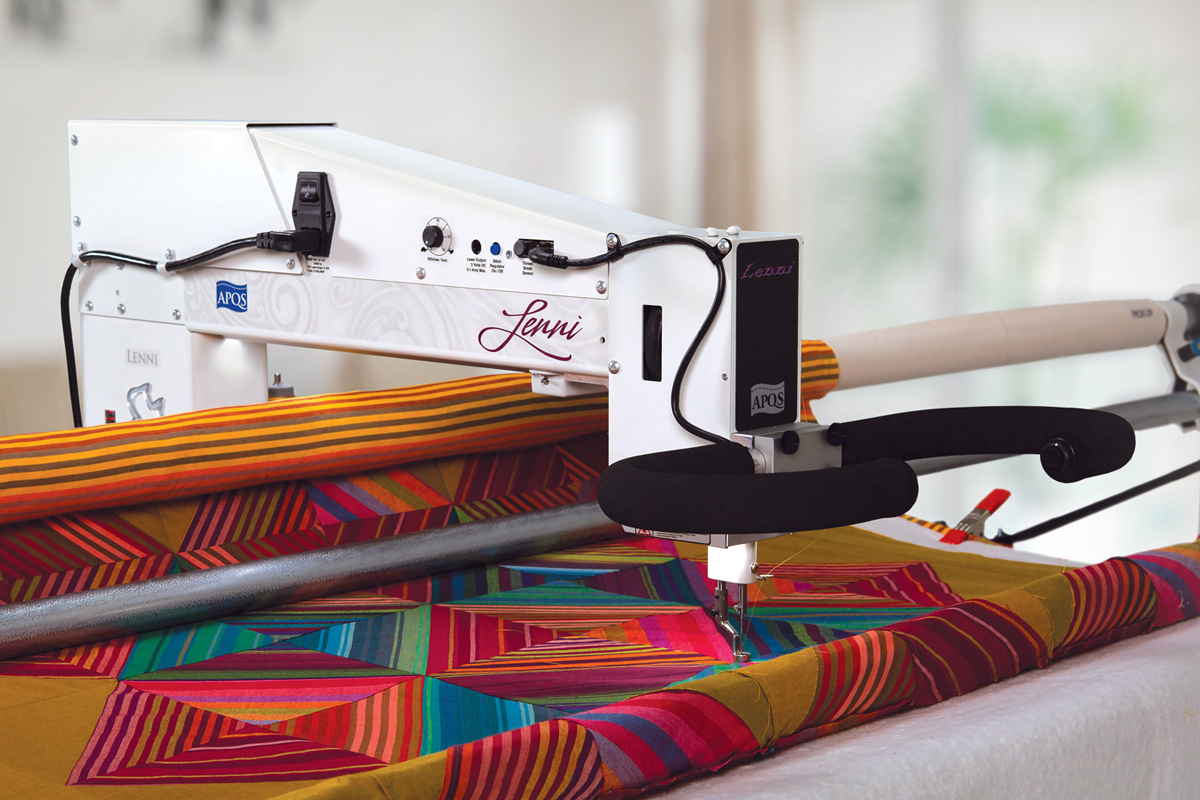 Gallery: Lenni Quilting Machine - Photo of Left side of Quilting Machine