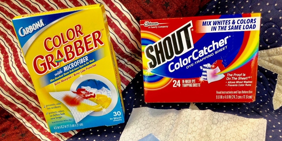 How to wash a quilt with Shout Color Catcher of Carbona Color Grabber