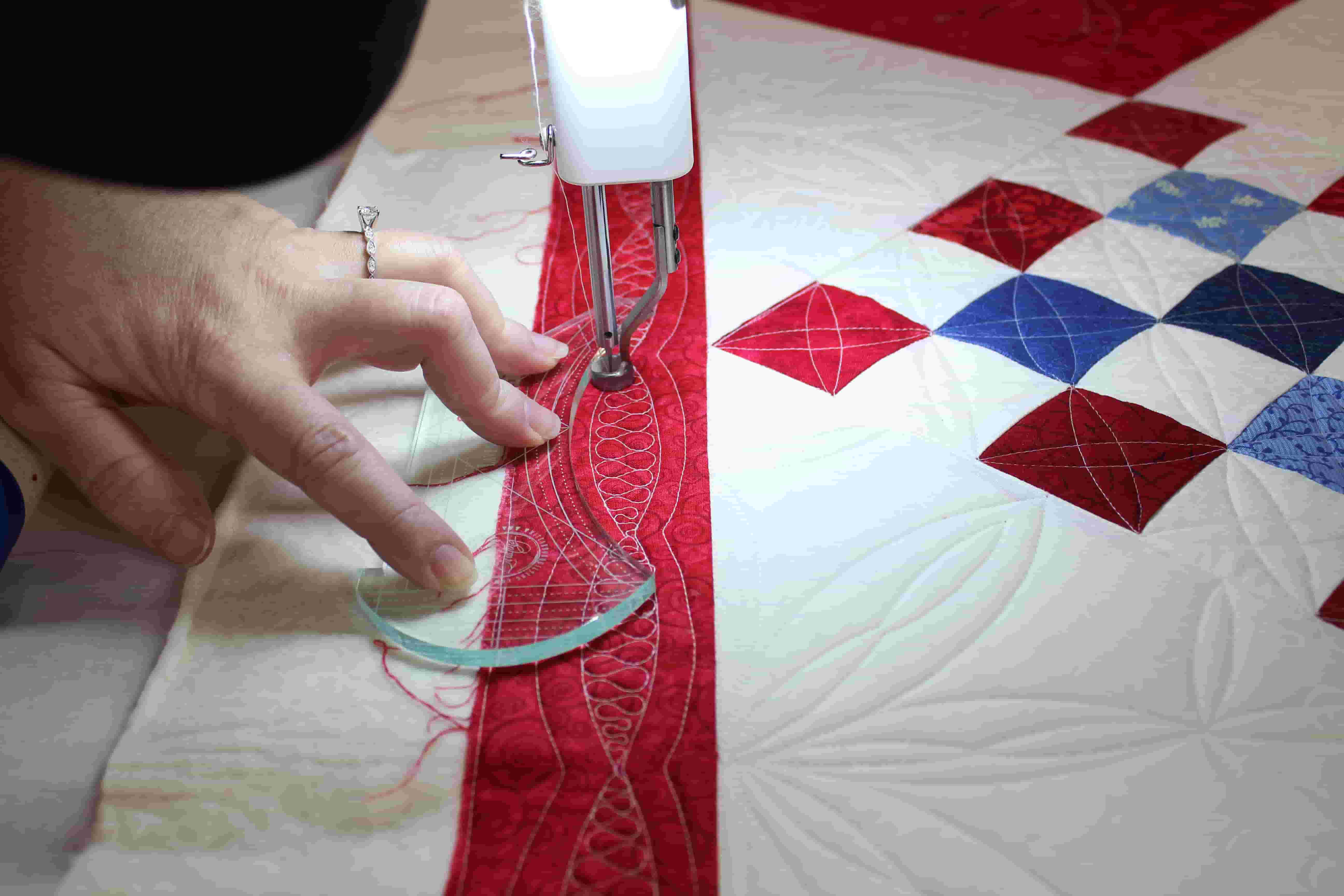 Rule Your Quilt Adding Spice With Scallop And Arc Machine