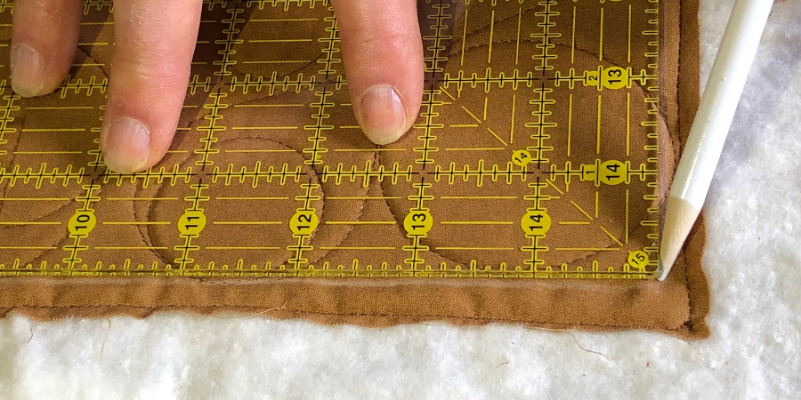 How to Square Up a Quilt for Binding