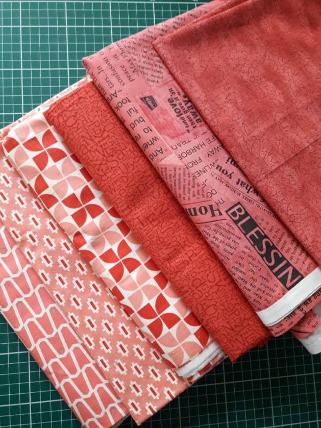 Swatches of Coral Fabric