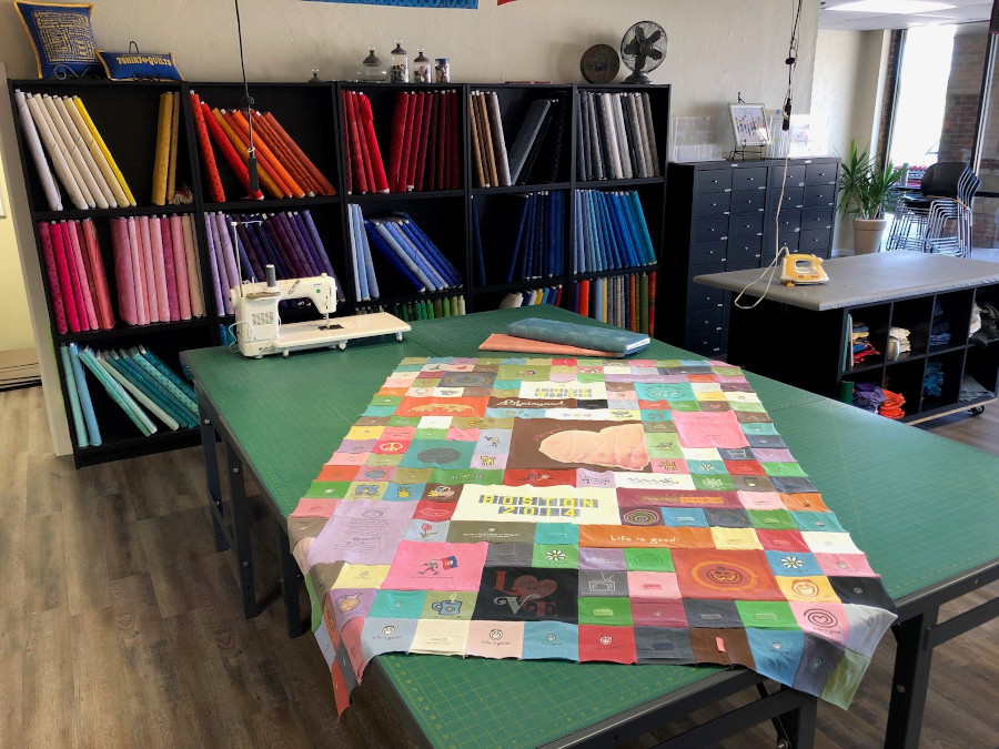 Quilting studio for Trish Maxwell at Journey Quilting Company