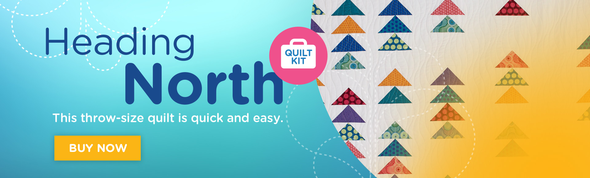 Heading North Quilt Kit Banner Ad