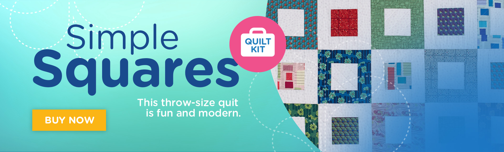 Simple Squares Quilt Kit Banner Ad
