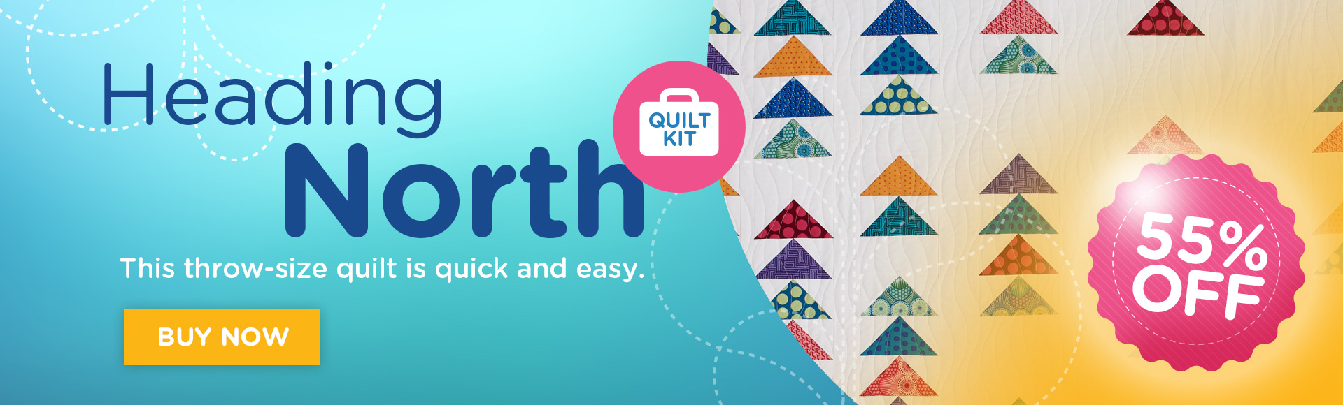 Heading North Quilt Kit 55 percent off