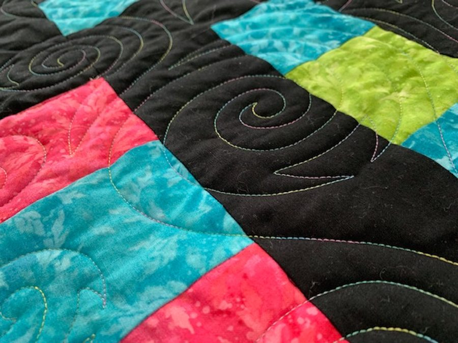 Quilt Design Concertina using Quilt Path by APQS Dealer Tracey Russell