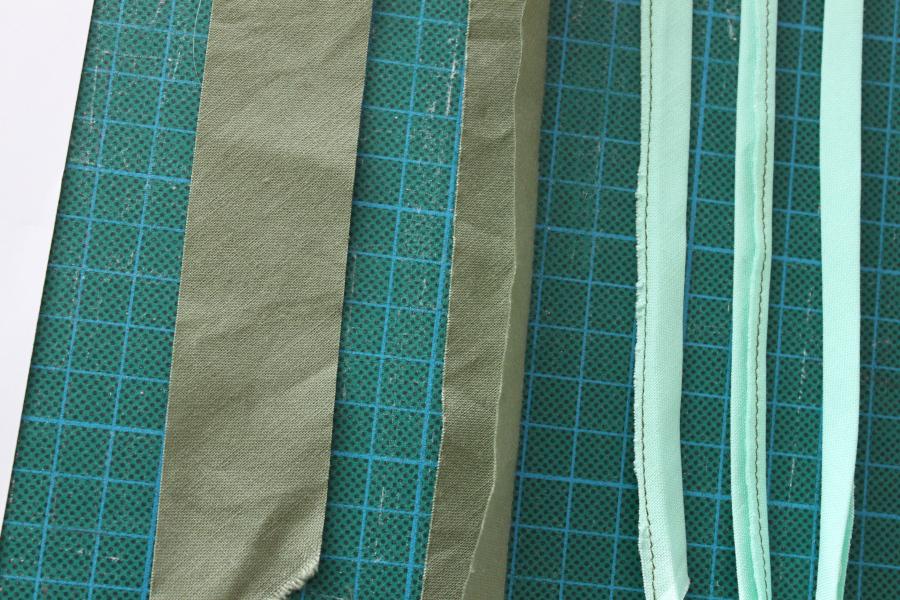 A varieties of bias strips.