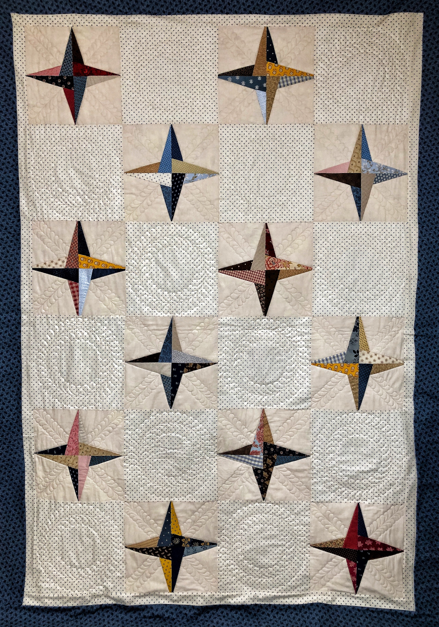 Barbara Heller's customer quilt utilizing both Quilt Path and free motion quilting