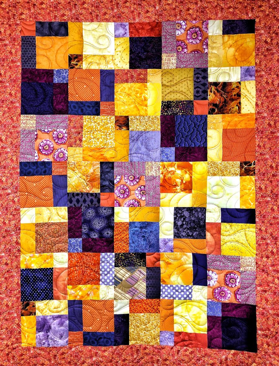 """Barbara Heller's customer quilt """"Bossa Nova"""""""