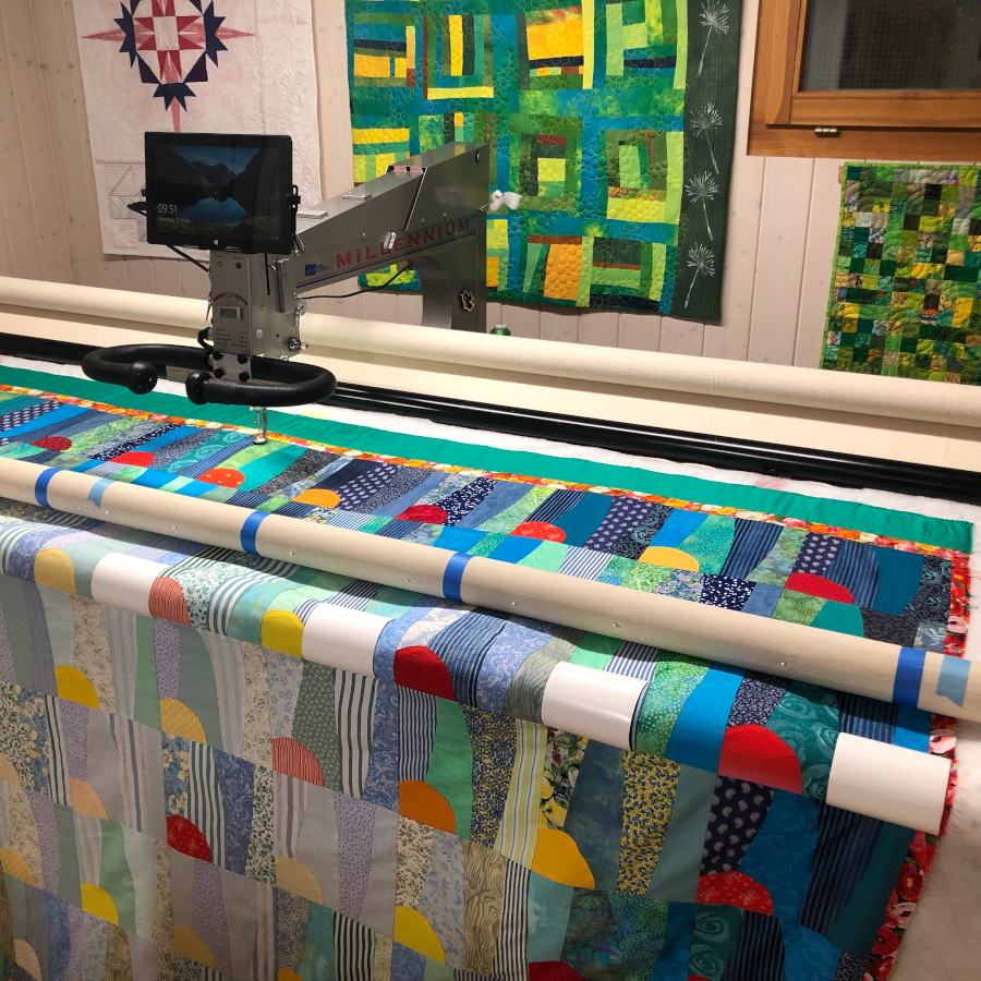 Barbara Heller's APQS Millie with Quilt Path