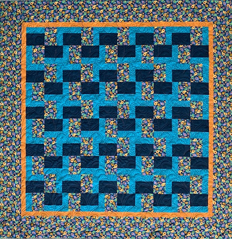 Finished Chunk It Up quilt.