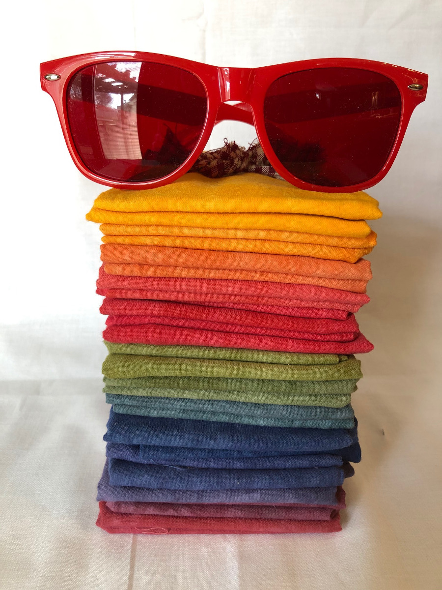 A selection of fabric and value finder glasses.
