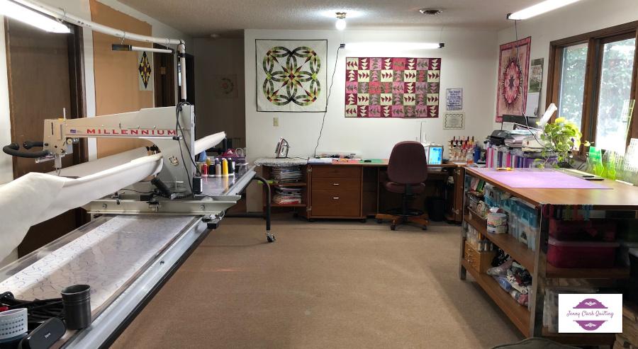 Jenny Clark's quilting studio.