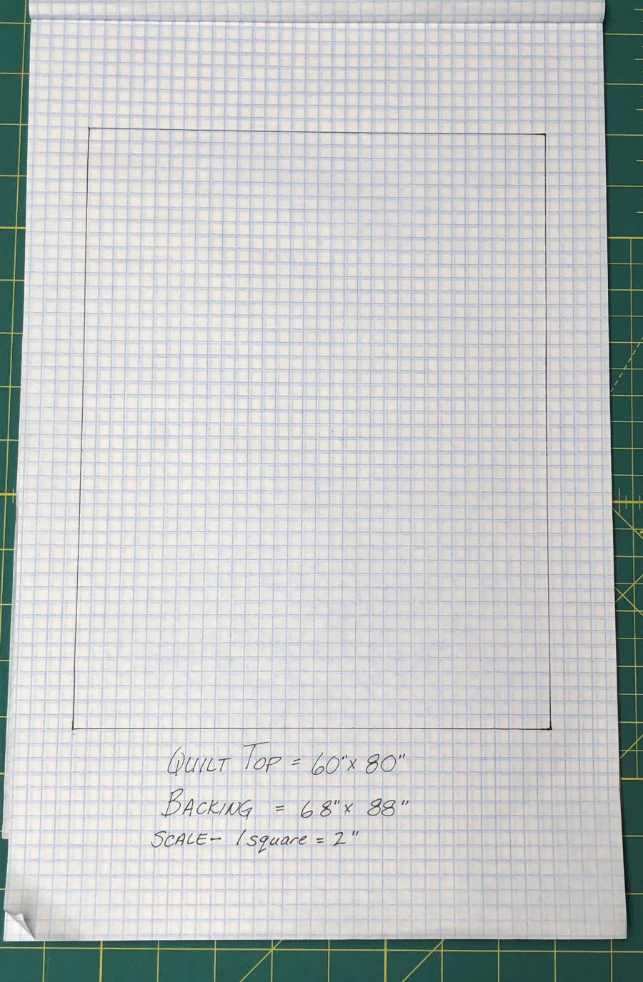 How to scale your quilt using graph paper.