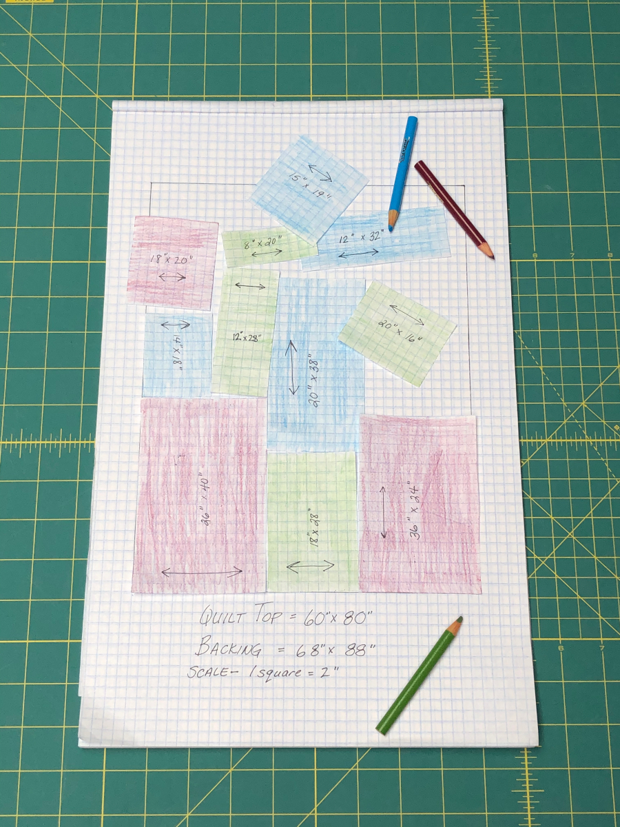 How to practice piecing your quilt before committing to a pattern.