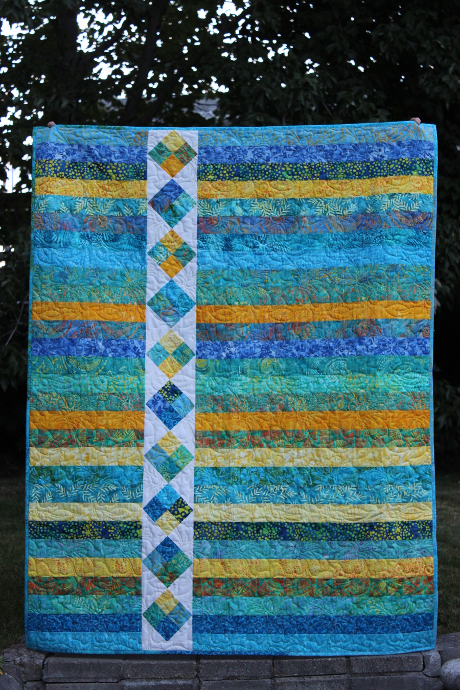 Island Four Patch full quilt