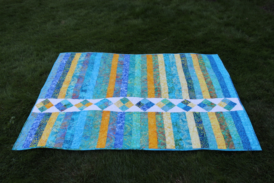 Island Four Patch quilt horizontal